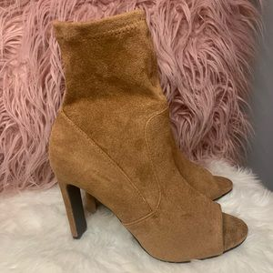 NWT FOREVER 21 OPEN TOE BOOTIES
